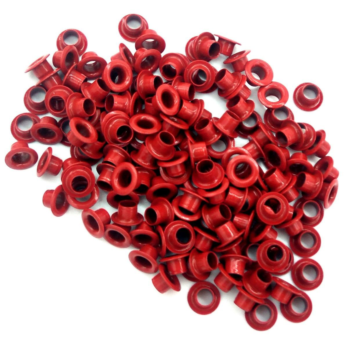 Ilhós Nº 54 Alumínio 8mm Externo - Vermelho
