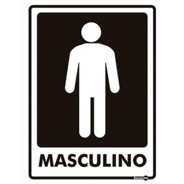 Placa PVC Banheiro Masculino 150 x 200 x 0,80mm