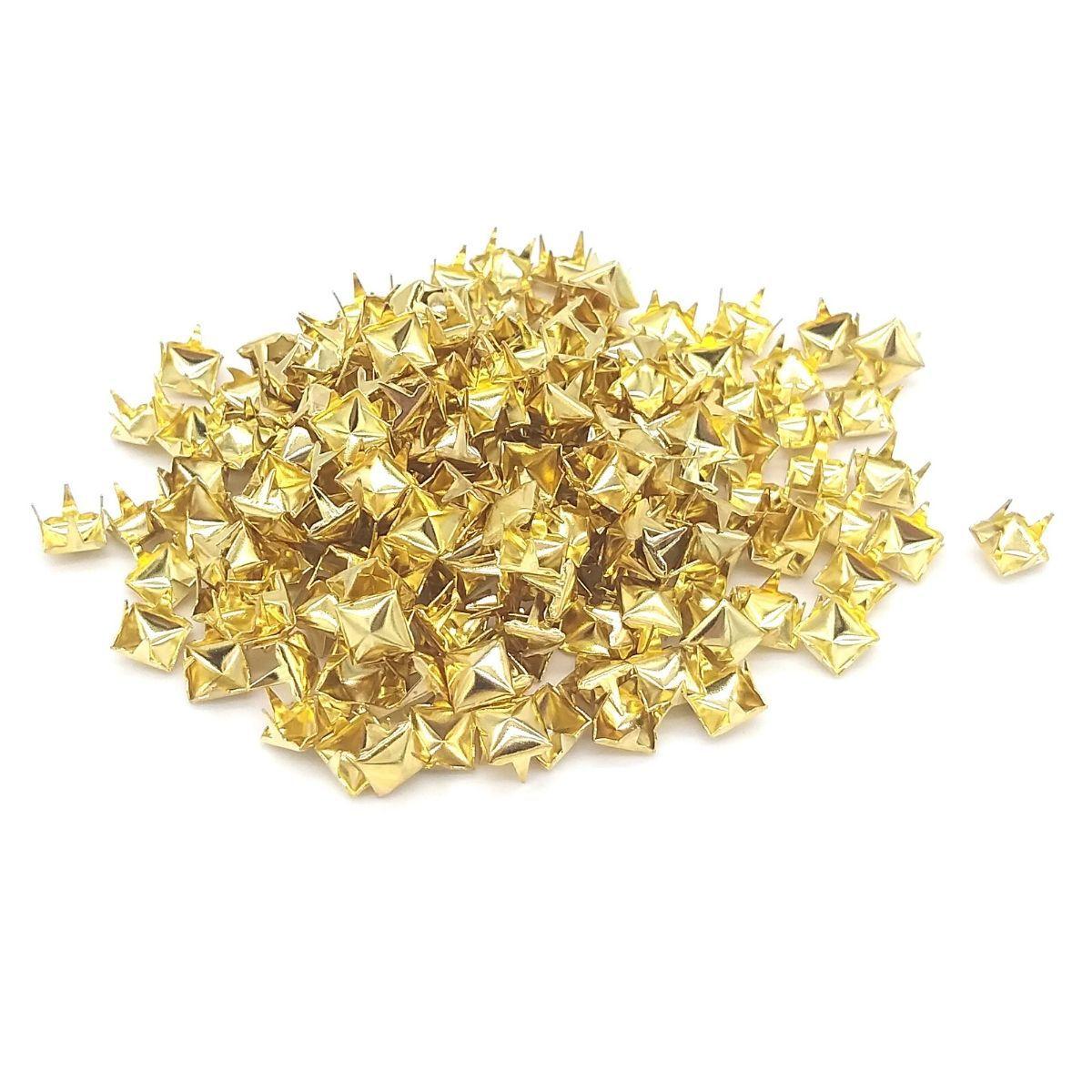Tacha Confecção Pirâmide Dourado Baxmann 200 unidades