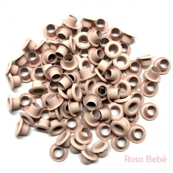 Ilhós colorido Nº 54 de alumínio pacotes com 1.000 peças cada cor 8mm de diâmetro externo