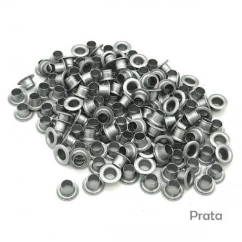 Ilhós colorido Nº 54 de alumínio pacotes com 500 peças cada cor 8mm de diâmetro externo