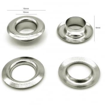 Kit completo para aplicar ilhós Nº 0 de Alumínio